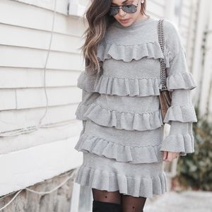 Dresses & Skirts - Ruffle detail sweater dress